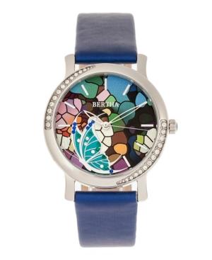 Quartz Vanessa Blue Genuine Leather Watch
