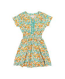 Masala Baby Girls Organic Cotton Mia Dress Spotted Pool