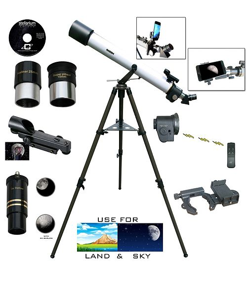 Cassini 800mm X 72mm Electronic Focus Telescope and Smartphone Adapter