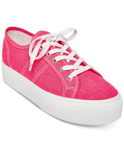 Steve Madden Women's Emmi Flatform Lace-Up Sneakers