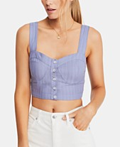 ca9757557a696b Free People Perfectly Striped Crop Top