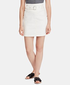 Free People Livin It Up Belted Mini Skirt