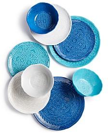 Capri Isle Mosaic Tile Melamine Dinnerware Collection