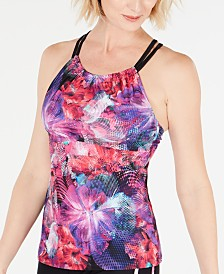GO by Gossip Digital Floral Tankini Top