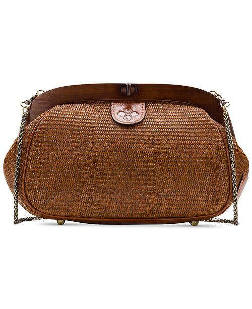 Patricia Nash Raffia Gracchi Shoulder Bag
