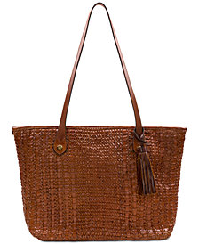 Patricia Nash Twisted Woven Leather Viotti Tote