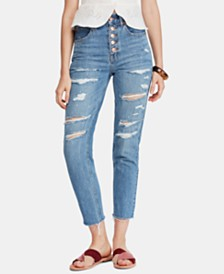Free People Blossom Rigid Distressed Skinny Jeans
