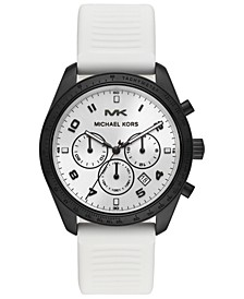 Men's Chronograph Keaton White Silicone Strap Watch 43mm