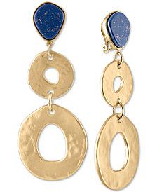 RACHEL Rachel Roy Gold-Tone Ring & Stone Clip-On Drop Earrings