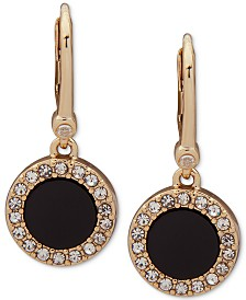 DKNY Pavé & Stone Small Drop Earrings, Created for Macy's