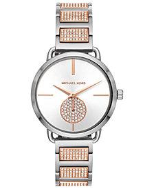 Michael Kors Women's Portia Two-Tone Stainless Steel Bracelet Watch 36mm