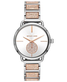 Michael Kors Women's Portia Two-Tone Stainless Steel Bracelet Watch 36mm