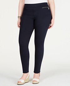 Tommy Hilfiger Plus Size Gramercy Sateen Capri Pants, Created for Macy's