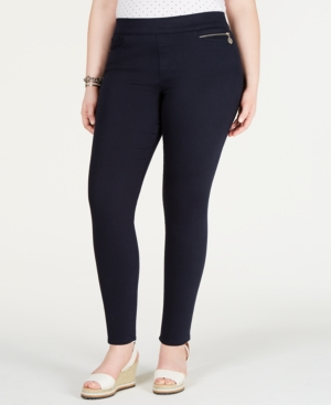 Tommy Hilfiger Plus Gramercy Sateen Ankle Pants, Created for Macy's
