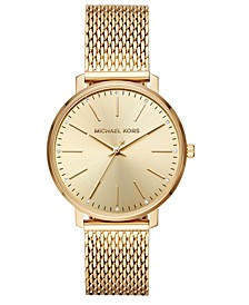 Women's Pyper Gold-Tone Stainless Steel Mesh Bracelet Watch 38mm