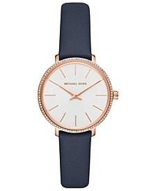 Women's Mini Pyper Navy Leather Strap Watch 32mm