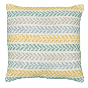 Image of Lr Home Altair Emerald City Chevron Throw Pillow