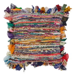 Image of Lr Home Rafi Chindi Stripe Throw Pillow