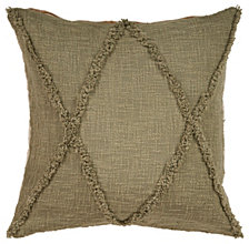 LR Home Criss Cross Olive Throw Pillow