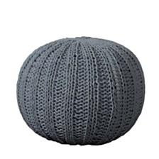 Minimalist Hand-Knitted Pouf
