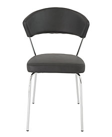 Draco Dining Chair with Chrome Legs - Set Of 2