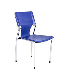 Terry Side Chair with Chrome Legs - Set Of 4