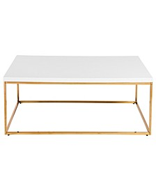 Teresa Rectangular Coffee Table with Gold Base