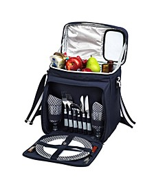 Insulated Picnic Basket, Cooler Equipped with Service for 2