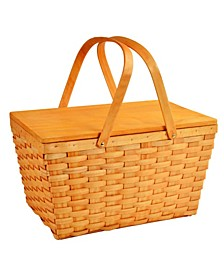 Lined Basket, Traditional American Picnic Style - Family Size