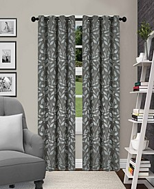 "Leaves Textured Blackout Curtain Set of 2, 52"" x 96"""