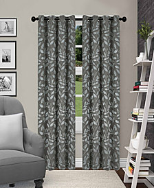 """Superior Leaves Textured Blackout Curtain Set of 2, 52"""" x 96"""""""