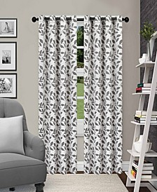 """Leaves Textured Blackout Curtain Set of 2, 52"""" x 84"""""""