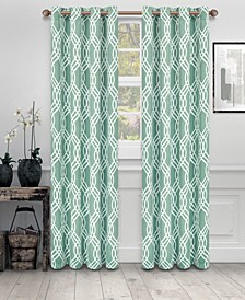 """Soft Quality Woven, Ribbon Collection Blackout Thermal Grommet Curtain Panel Pair, Set of 2, 52"""" x 108"""""""