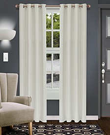 """Shimmer Textured Blackout Curtain, Set of 2, 52"""" x 84"""""""
