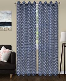 """Lightweight Trellis Sheer Curtain Panels, (2), 52"""" x 108"""""""