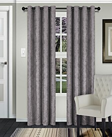 "Waverly Textured Blackout Curtain, Set of 2, 52"" x 63"""