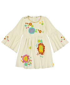 Masala Baby Girls Organic Cotton Simple Dress Floral Winter