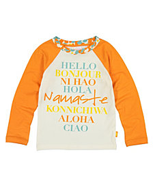 Masala Baby Girls Organic Cotton Hello Tee Winter