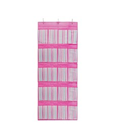 Laura Ashley Kids Over The Door 16 Pocket Shoe Organizer in Painterly Pink Stripe
