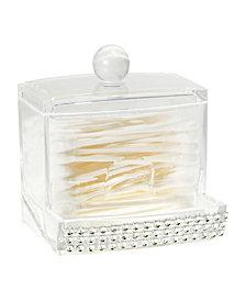 Laura Ashley Q-Tip Box in Pave Diamond Design