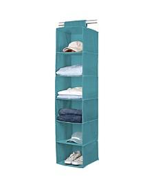 Simplify 6 Shelf Closet Organizer in Dusty Blue