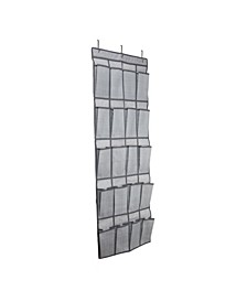 20-Pocket Shoe Organizer in Gray