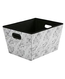 Simplify Large Grommet Storage Bin in Marble