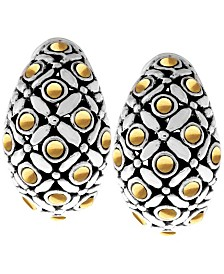 The Eclipse Signature Sterling Silver Earrings embellished by 18K Gold Accents Dots