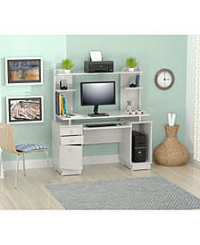 Inval America Laura Computer Work center with Hutch