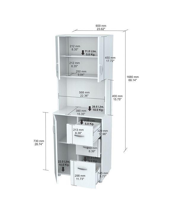 Inval America Kitchen Storage Cabinet & Reviews ...