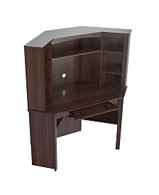 Inval America Velvedire Corner Workstation with Hutch