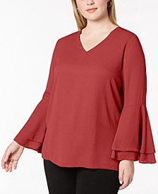 Plus Bell-Sleeve Blouse, Created for Macy's