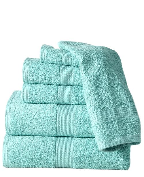 Casa Platino Supersoft Plush Low Twist Cotton 6 Piece Towel Set