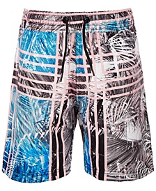 Little Boys Palm-Print Swim Trunks, Created for Macy's